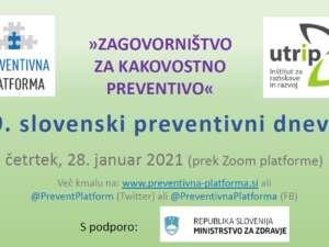 Zagovorništvo za kakovostno preventivo (delavnica) – 28. januar 2021 ob 09:00